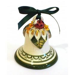 Campanella media in ceramica con applicazione coccinella