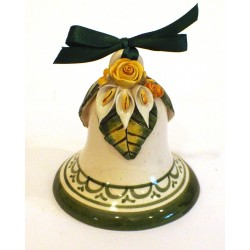 Campanella media in ceramica con applicazione fiori