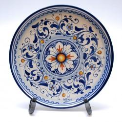 """Piatto da parete con decoro """"ornato fiori blu"""""""