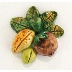 Calamita piccola ( magnete ) in ceramica modello frutta secca