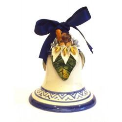 Campanella media in ceramica con applicazione tartaruga