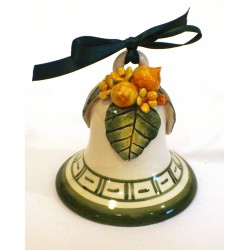 Campanella media in ceramica con applicazione limoni