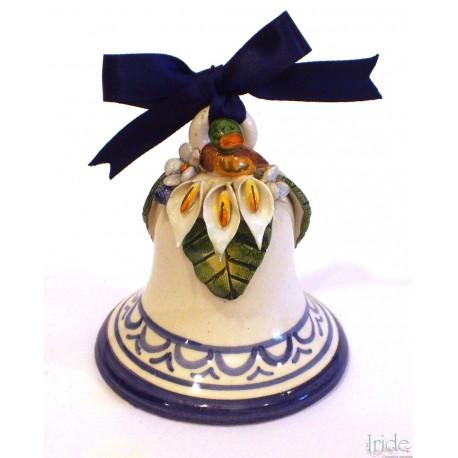 Campanella media in ceramica con applicazione papera