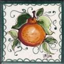 Mattonella in ceramica modello arancio