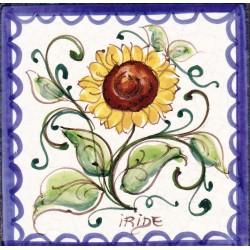 Mattonella in ceramica modello girasoli