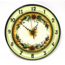 Orologio con numeri laterali decoro girasoli