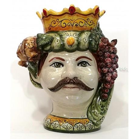 Testa di moro modello regina ( Caltagirone ) con limoni e uva frutta