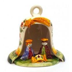 Presepe campana grande con natività su base