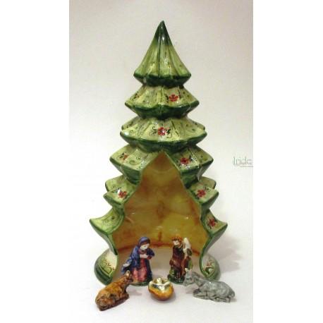 Presepe in ceramica artistica modello albero di Natale