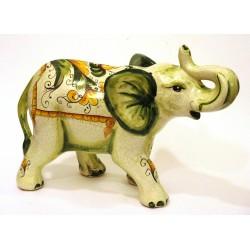 Elefante quarta misura decoro antichizzato