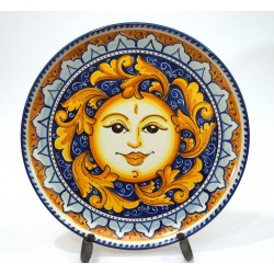 """Piatto da parete con decoro - """"Sole"""""""