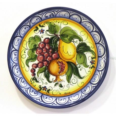 """Piatto da parete decoro """"frutta mista"""""""