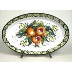 Piatto Ovale Melograni cm . 48 x 30