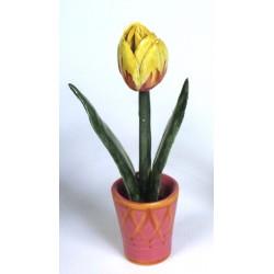Vaso con Tulipano Giallo
