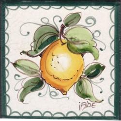 Mattonella in ceramica modello limoni