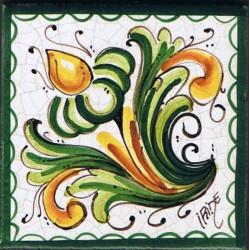 Mattonella in ceramica modello pignetta