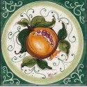 Mattonella in ceramica modello melograno fondo pieno