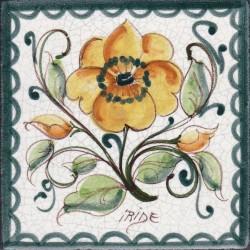 Mattonella in ceramica modello peonia