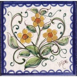Mattonella in ceramica modello fiori