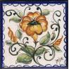 Mattonella in ceramica modello fiori campanula
