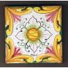 Mattonella in ceramica modello rosone