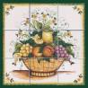 Pannello di Mattonelle in ceramica decoro cesto di frutta
