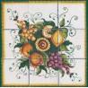 Pannello di Mattonelle in ceramica decoro frutta assortita