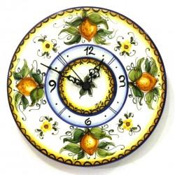 Orologio disco piatto decoro limoni