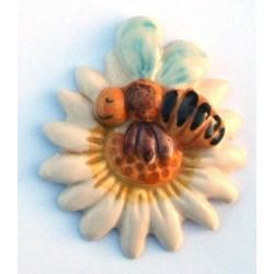 Calamita piccola modello margherita con ape