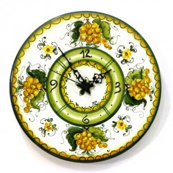 Orologio disco piatto decoro Uva Gialla