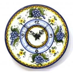 Orologio disco piatto decoro Uva Blu