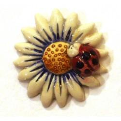 Calamita piccola modello margherita con coccinella