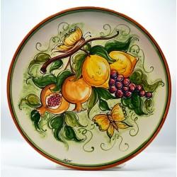 """Piatto da parete con decoro - """"Frutta e farfalle 1"""""""