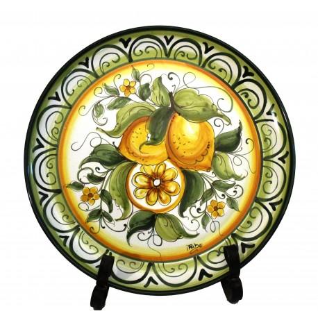 """Piatto da parete decoro """"Limoni"""""""