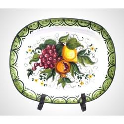 Vassoio Ovale Frutta mista cm . 42 x 35