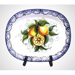Vassoio Ovale Limoni cm . 42 x 35