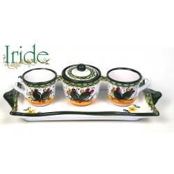 Servizietto caffè - Tete a tete - decoro fico d'india