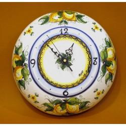 Orologio bombato grande, decoro limoni