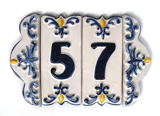 Numeri Civici In Ceramica.Mattonella Numero Civico Ceramiche Artistiche Iride